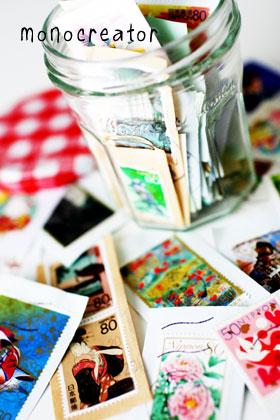 空き瓶−切手