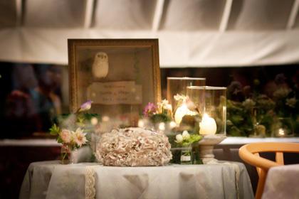森の結婚式ディスプレイ